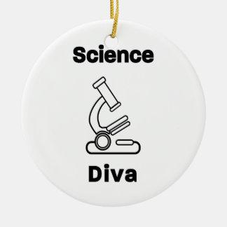 Biowissenschafts-Diva Keramik Ornament