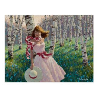 Birch Forest Postkarte