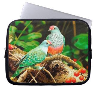 Bird green_funda laptopschutzhülle