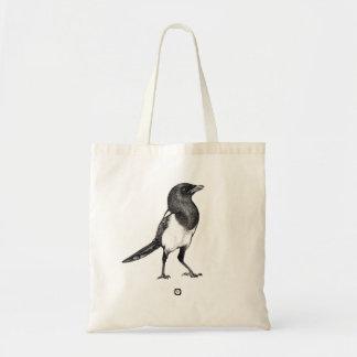 Bird - Magpie - Elster Bag Tragetasche
