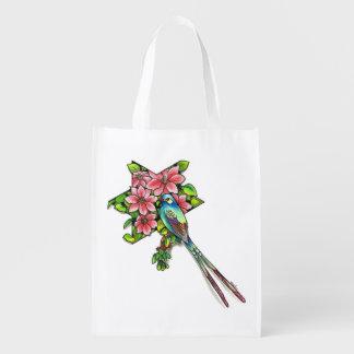 Bird style wiederverwendbare einkaufstasche
