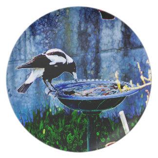 Birdbath 01 melaminteller