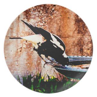 Birdbath 05 melaminteller
