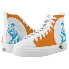 birdhand hoch-geschnittene sneaker