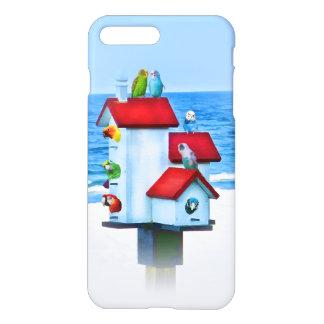 Birdhouse mit Papageien und Parakeets iPhone 7 Plus Hülle