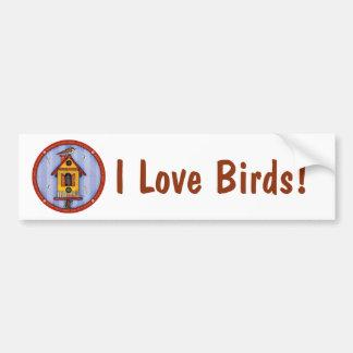 Birdhouse mit Vogel Autoaufkleber