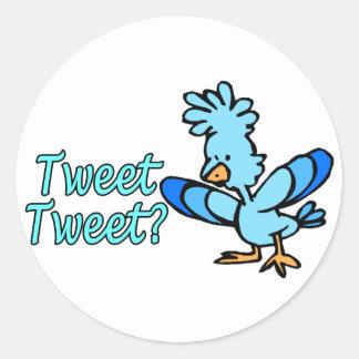 Birdie tweeten tweeten runder aufkleber