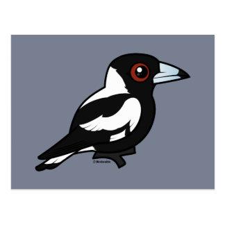 Birdorable australische Elster Postkarte