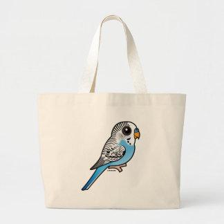 Birdorable Budgie Blau Jumbo Stoffbeutel