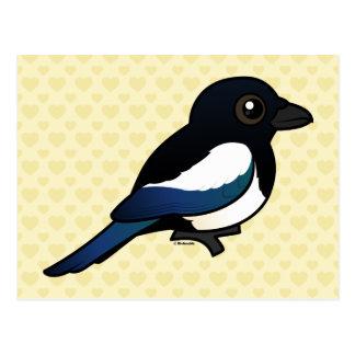 Birdorable Eurasier-Elster Postkarte