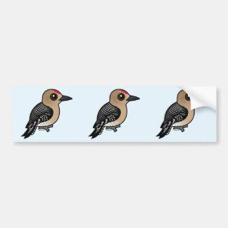Birdorable Gila Specht Autoaufkleber