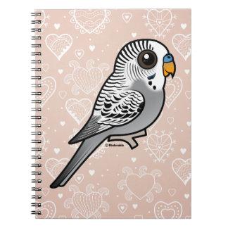 Birdorable Grau Budgie Notizblock