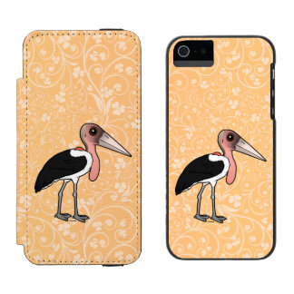 Birdorable Marabu-Storch Incipio Watson™ iPhone 5 Geldbörsen Hülle