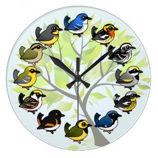 Birdorable Trällerer-Uhr Große Wanduhr