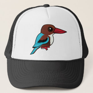 Birdorable Weiß-throated Eisvogel Truckerkappe