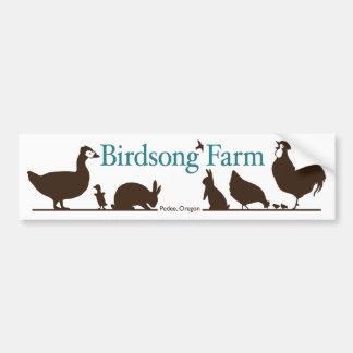 Birdsong-Bauernhof-Autoaufkleber Autoaufkleber