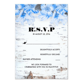 Birken-Barken-rustikale Land-Hochzeit UAWG Karten 8,9 X 12,7 Cm Einladungskarte