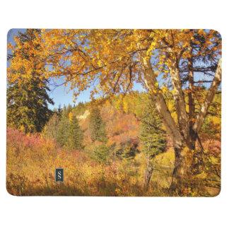 Birken-Baum im Herbst Taschennotizbuch
