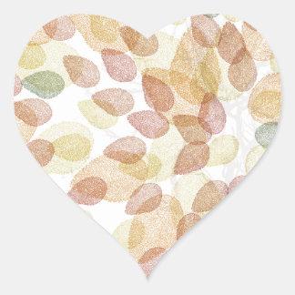 Birken-Baum in den Herbstfarben Herz-Aufkleber