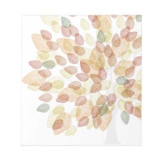 Birken-Baum in den Herbstfarben Notizblock