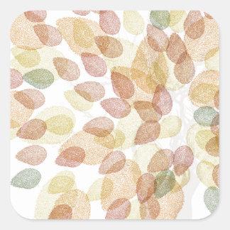 Birken-Baum in den Herbstfarben Quadratischer Aufkleber