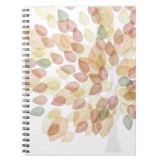Birken-Baum in den Herbstfarben Spiral Notizblock