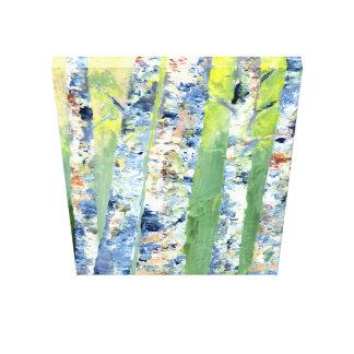 Birken-Baummalen Leinwanddruck