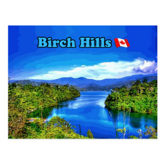 Birken-Hügel SK-Postkarte - schöner Fluss Postkarte