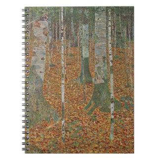 Birken-Wald durch Gustav Klimt, Vintage Kunst Notizblock