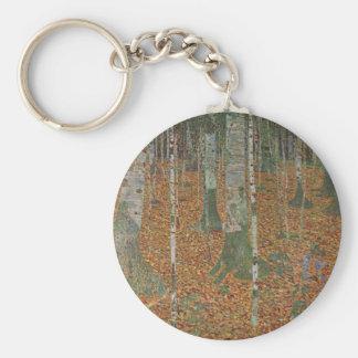Birken-Wald durch Gustav Klimt, Vintage Kunst Schlüsselanhänger