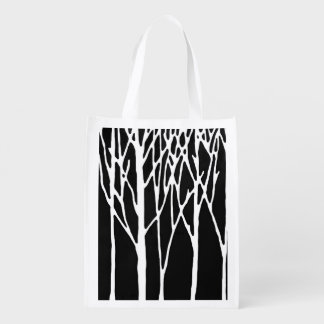 Birken-Wald durch Leslie-Paprikaschoten Wiederverwendbare Einkaufstasche