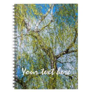 Birkenbaum - Frühling ist in der Luft Spiral Notizblock