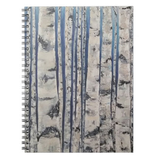 Birkenbäume Morsealphabet Notizblock