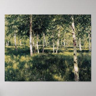 Birkenwaldung Isaacs Levitan- Plakatdrucke