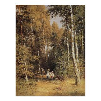 Birkenwaldung Isaacs Levitan- Postkarte