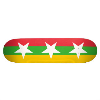 Birma-Flagge 18,7 Cm Mini Skateboard Deck