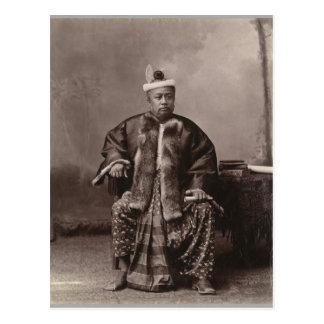 Birmanischer Richter, Ende des 19. Jahrhunderts Postkarte