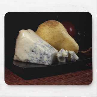 Birne und Blauschimmelkäse Mousepad