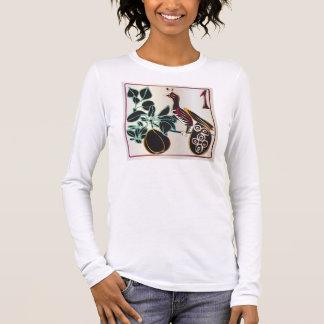 Birne und -vogel Milliamperestunde Jongg Langarm T-Shirt