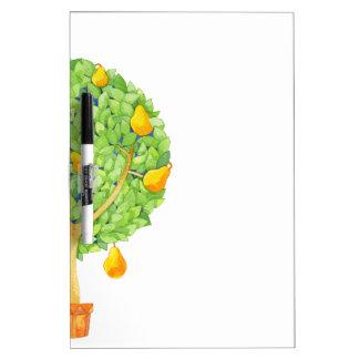 Birnen-Baum-Medium mit Stift-trockenem Trockenlöschtafel