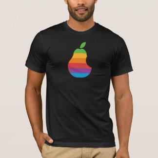 Birnen-Computer - Retro Apple-Logo-Parodie-T - T-Shirt