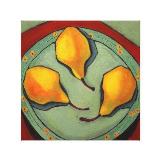 Birnen, Frucht, noch Leben, Druck auf Leinwand