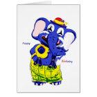 Birthday card elephant, Children's birthday Karte