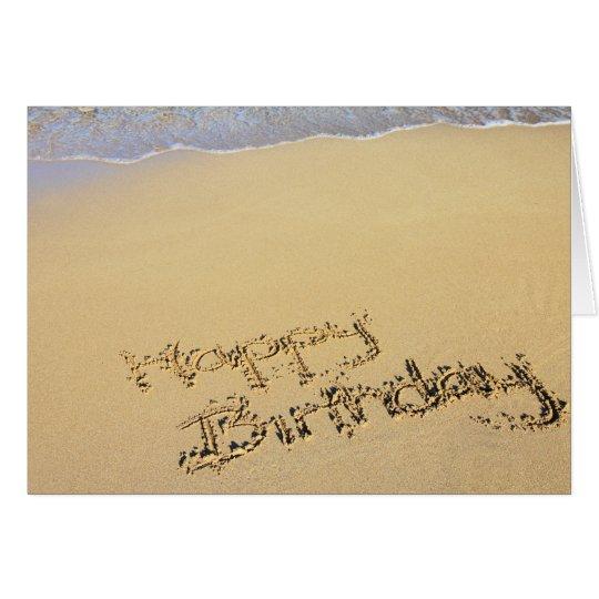 Birthday Card: Happy Birthday on the Beach Karte