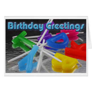 Birthday Greetings Greeting Card
