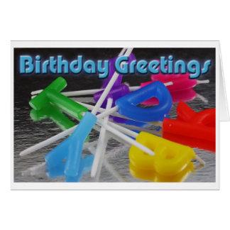 Birthday Greetings Grußkarte