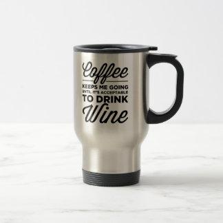 Bis es annehmbar ist, Wein-Reise-Tasse zu trinken Edelstahl Thermotasse