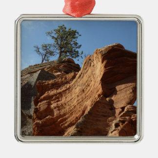 Bis zu den Engeln, die in Zion Nationalpark landen Silbernes Ornament