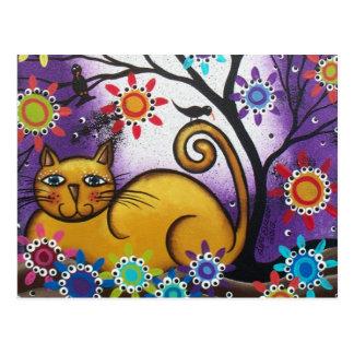 Bis zum Tag Loris Everett_ des Dead_Mexican_Cat Postkarte