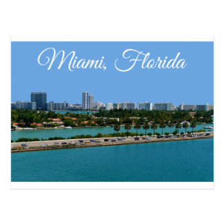 Biscayne Bucht-Miami Beach-Florida-Reise-Postkarte Postkarte